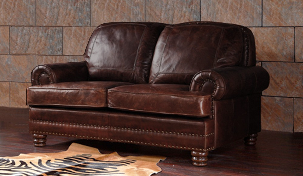 distressed leather dining chairs uk sweet 16 chair ideas chambers vintage - 2 seater sofa luxury delux deco
