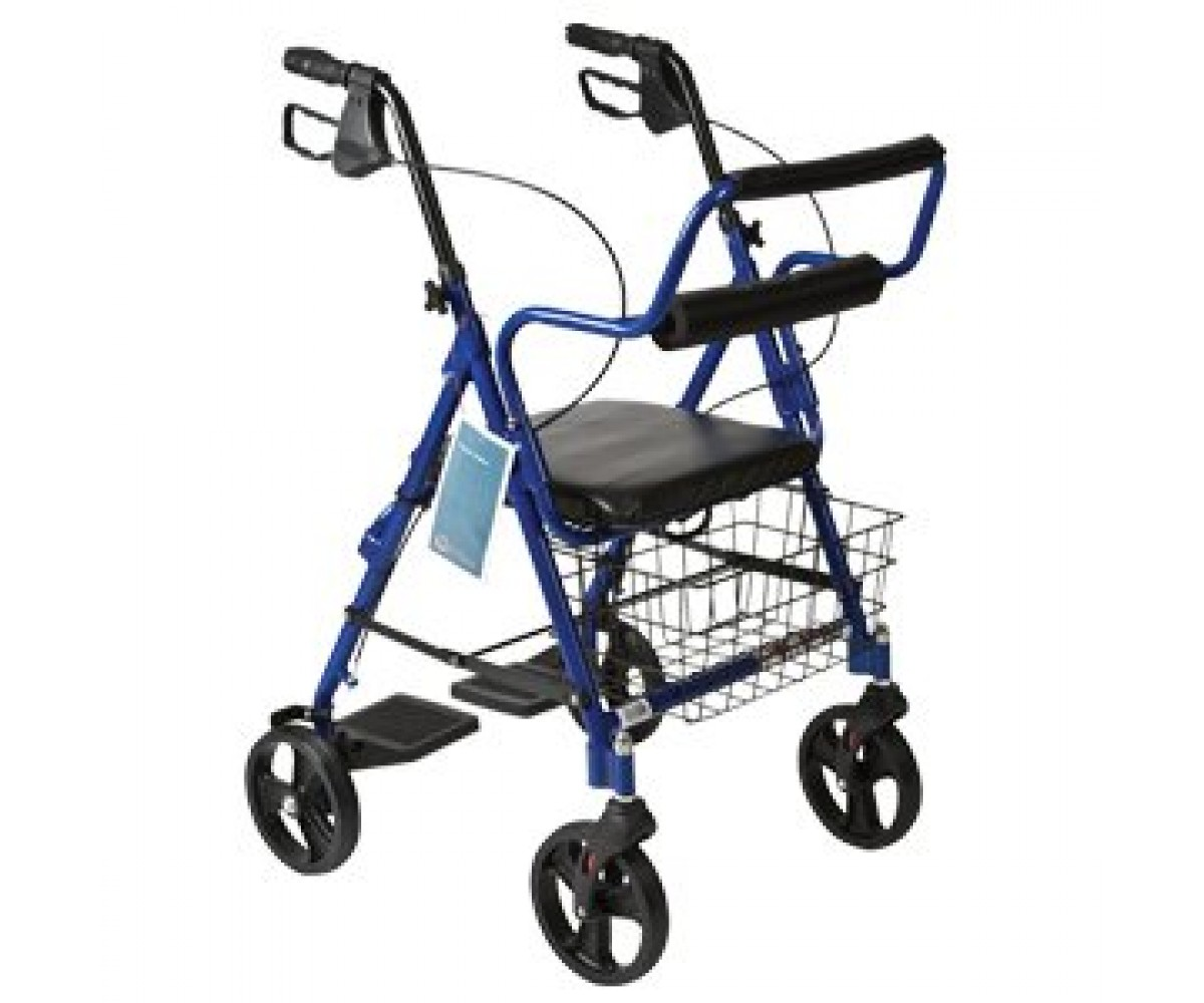 walker chair combo heated chairs home combination red rollator and transport wheelchair