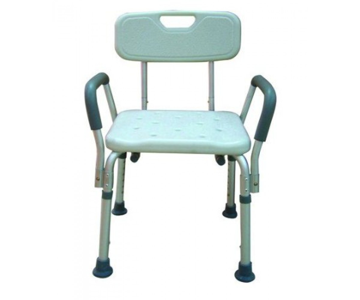 shower chair with wheels and removable arms patio glides rectangular bath bench adj ht w back kd remov padded drive