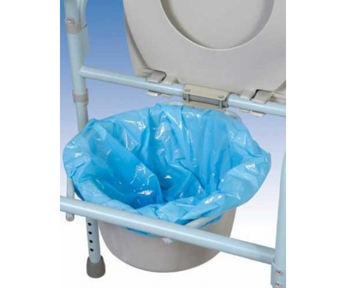 carex shower chair velvet swivel commode pail liners pack 7
