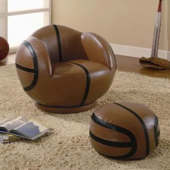Kids Chair And Ottoman Folding Outdoor Lounge Furniture Basketball
