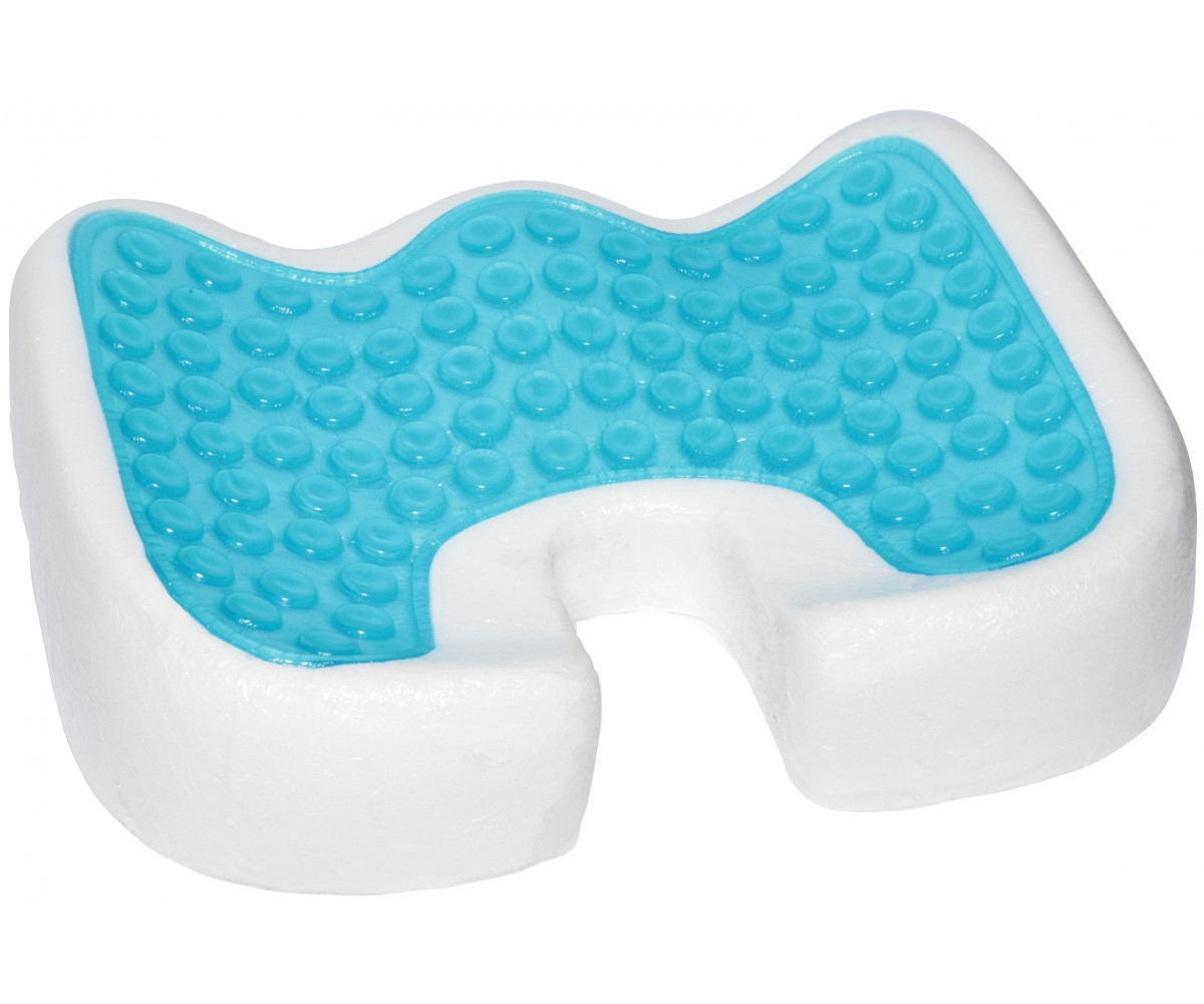 gel cushion for chairs large round bamboo chair coccyx orthopedic enhanced comfort foam seat