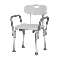 Shower Chair With Wheels And Removable Arms Office Price Bath Bench Back Handle