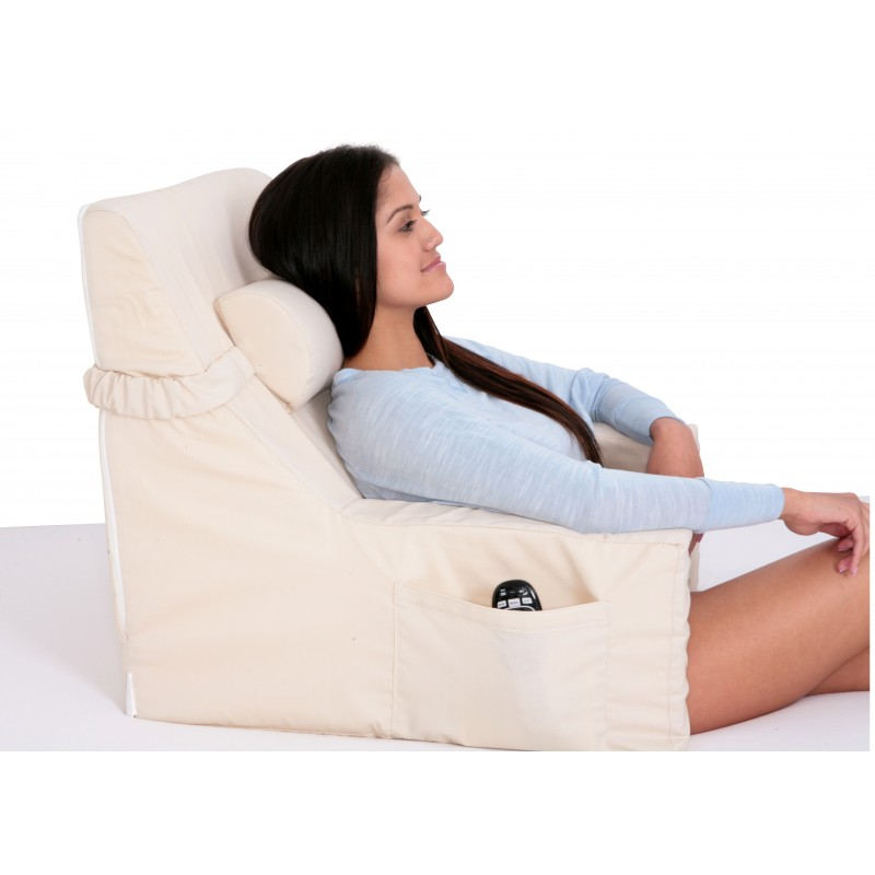 bed lounger with cervical roll relax in bed chair