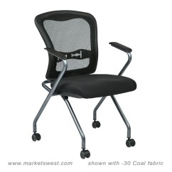Folding Chair With Wheels Resin Pool Chairs Deluxe Progrid Back Arms And Titanium