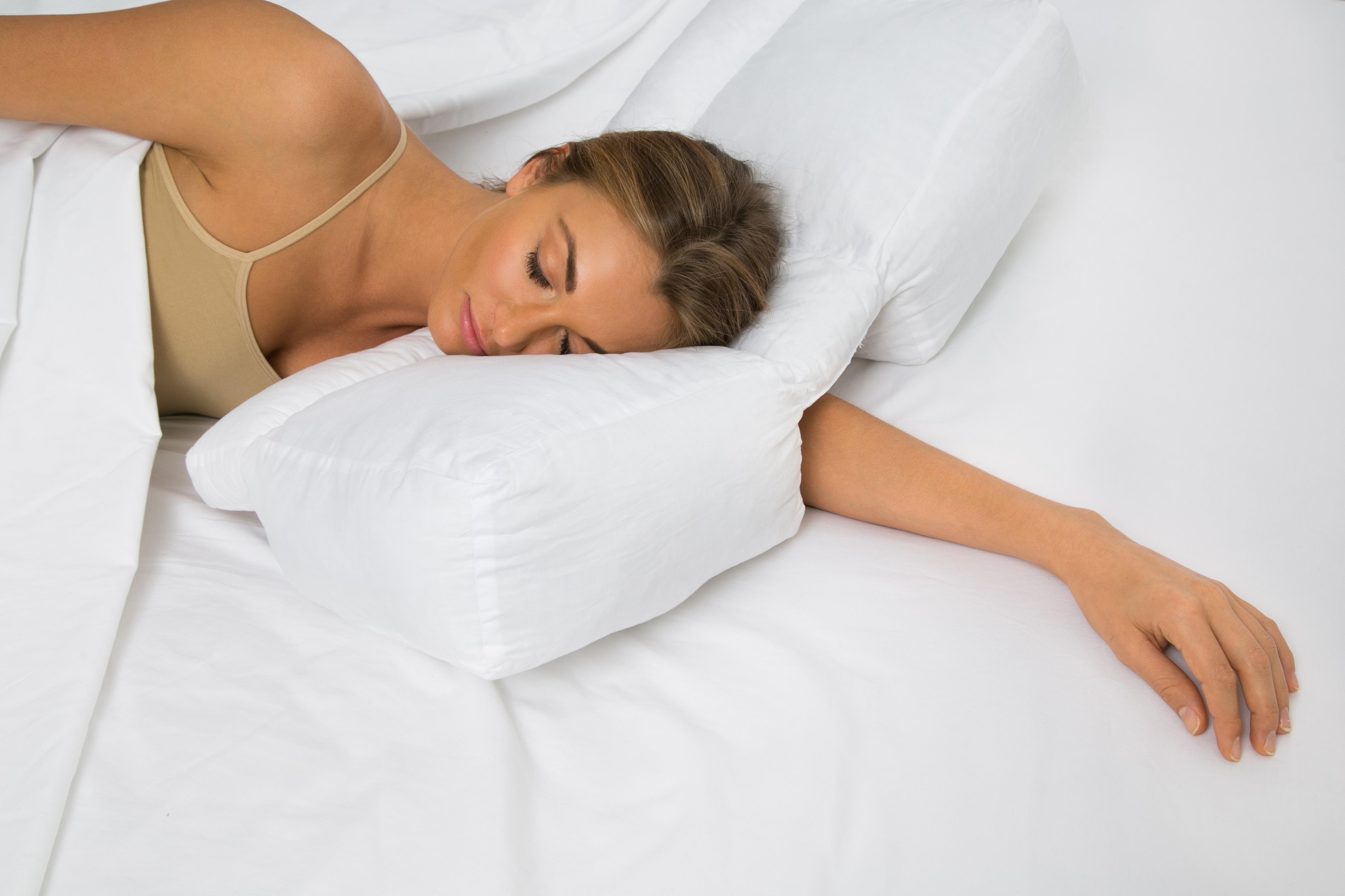 Better Sleep Pillow Gel Fiber Pillow  Patented ArmTunnel