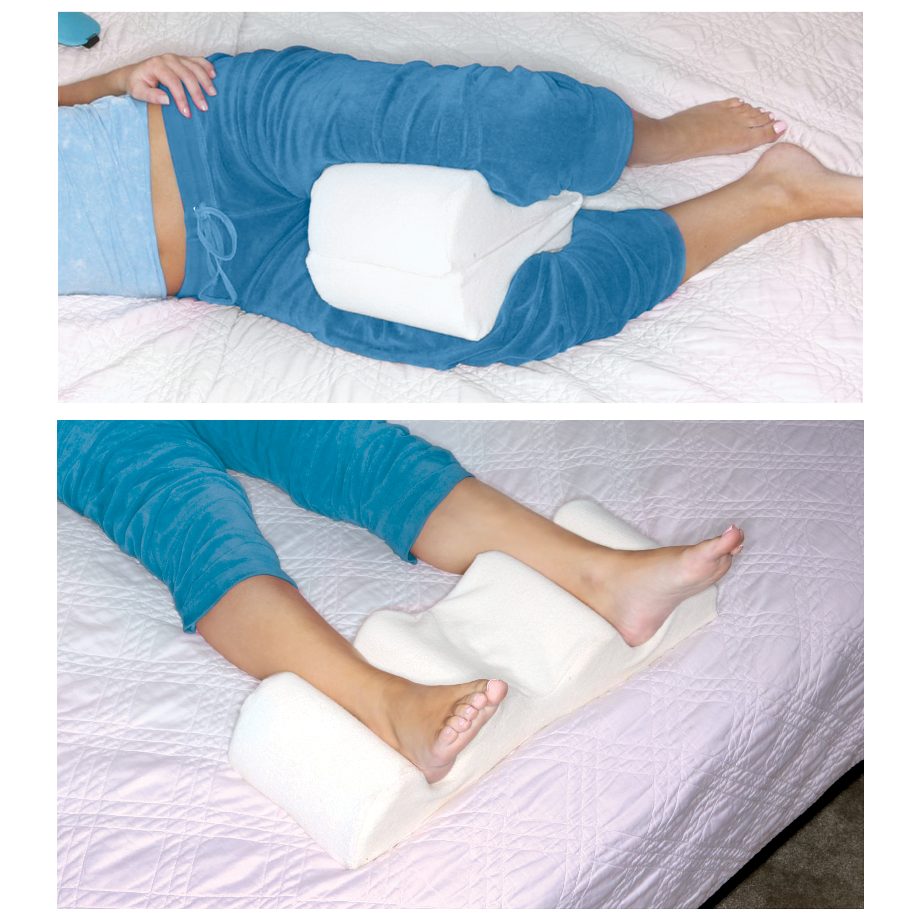 Leg Wedge Pillow Best Memory Foam 2in1 Knee Pillows