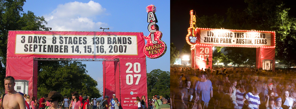 Austin City Limits ACL music festival fest event main gate