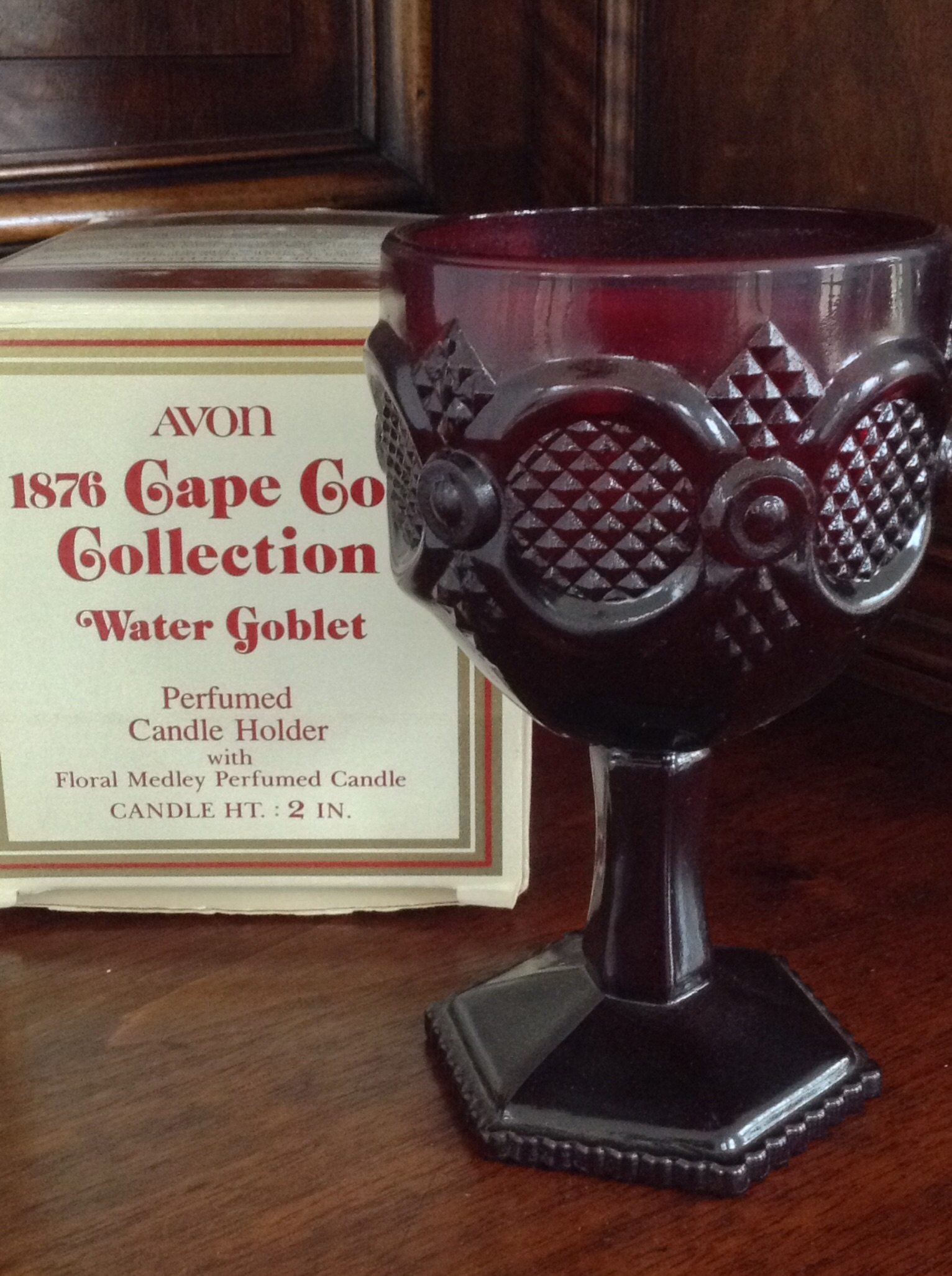 Avon 1876 Cape Cod Collection Water Goblet