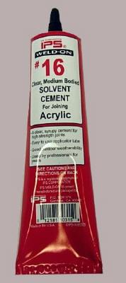Acrylic Cement  Weld On 3  Delvies Plastics Inc
