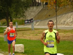 Une grande partie de la course se déroule sur les berges du Rhône.