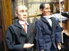 Un drôle de magasin de marionnettes à Prague.
