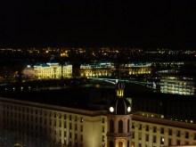 Vue nocturne de Lyon.