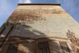 Fresque représentant un projet urbanistique de Tony Garnier.