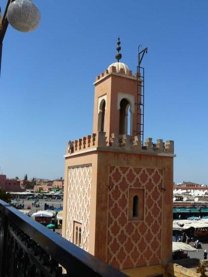 Vue sur un minaret.