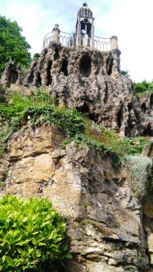 Un jardin rocailleux.