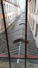 Coulisses du Printemps LyonLa verrière du passage de l'Argue, vue d'en haut.