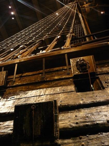 Vue du Vasa en contre-plongée.