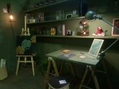 La scène d'inspiration Atelier... de vert.