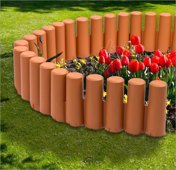 bordure bordurette de jardin plastique 2700 mm flexible 10 pc