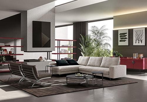 Arredamento moderno zona living  DEMA