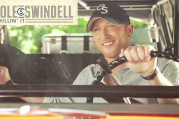 "Cole Swindell's music video for ""Chillin' It."" Music video screen capture via YouTube/VEVO."