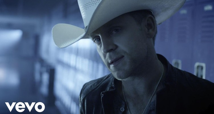 "Country music artist Justin Moore's ""Lettin' the Night Roll"" from the 2013 album Off the Beaten Path. Music video screen capture via YouTube/VEVO."