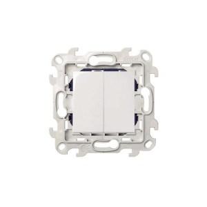 Double interrupteur 10 AX 250 V Simon