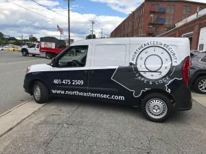 Northeastern Security Van Drivers Side