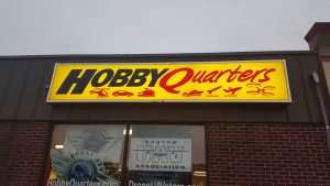 Hobby Quarters Backlit Sign in the Day