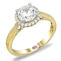 Halo Ring: Yellow Gold Halo Ring