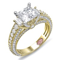 Yellow Gold Princess Cut Engagement Ring