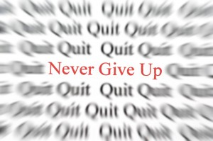 ne jamais abandonner