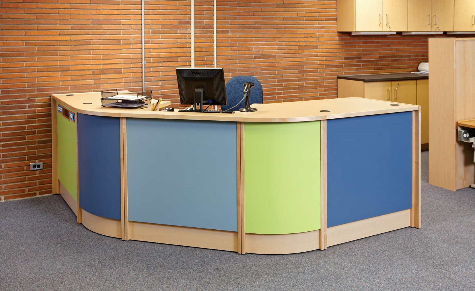 ColorScape Circulation Desks  httpswwwdemcointeriorscom