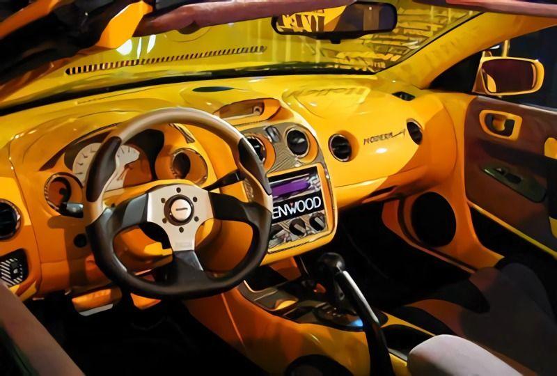 Como pintar los interiores del Auto