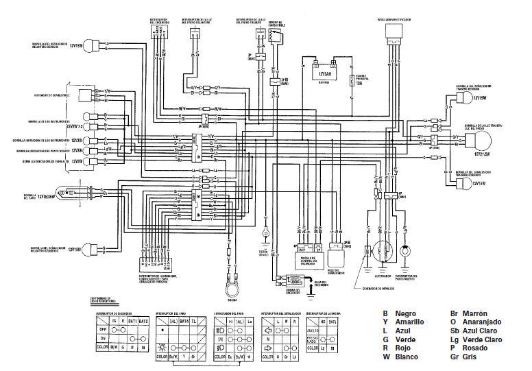yamaha yzf 600r wiring diagram