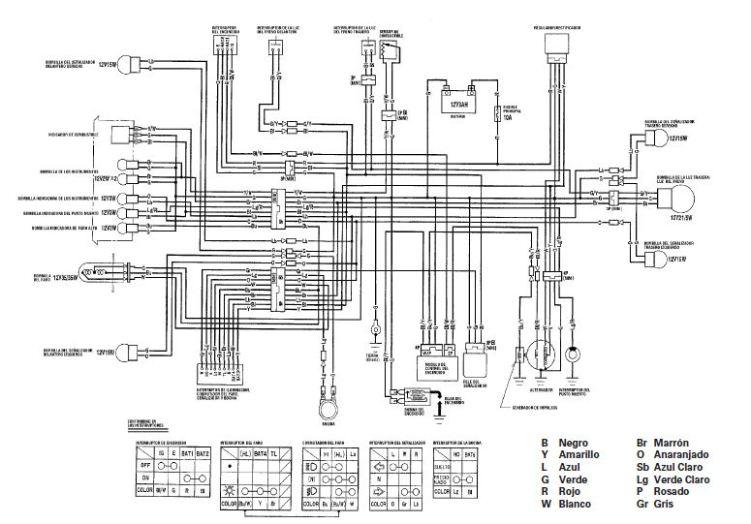 Schaltplan Yamaha Dt 125 4bl