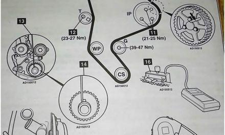 Montaje correa de distribución motor Citroën Peugeot diesel 1.9