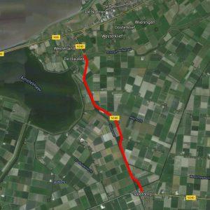 'Het traject an de N240 dat dit jaar wordt aangepakt' - Foto: Google earth