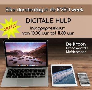Digitaal inloopspreekuur in 'De Kroon'