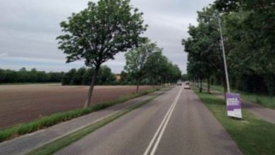 Photo of Fietspad Terpweg westzijde verdwijnt, aan oostzijde twee richtingen