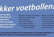 Photo of Elke zaterdag lekker voetballen voor basisschool kinderen bij CV Wieringermeer