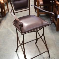 Swivel Chair In Spanish Dining Foam Replacement Iron Bar Stool Roma Barstool Especial Demejico