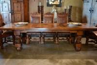 Spanish Revival Dining Table, Carved Mesa Patona - Demejico