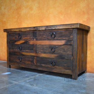 Old World Dresser, Farmhouse Bedroom, Spanish Style Dresser -Demejico
