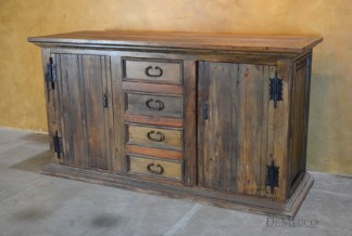 old wood tv stand