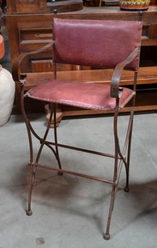 spanish iron bar stool