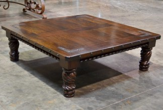 spanish carved coffee table