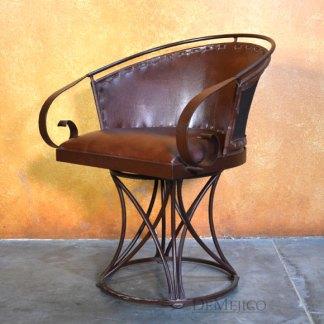 Iron Equipal Chair, Traditional Mexican Chair, Iron Swivel Chair, Iron Chair