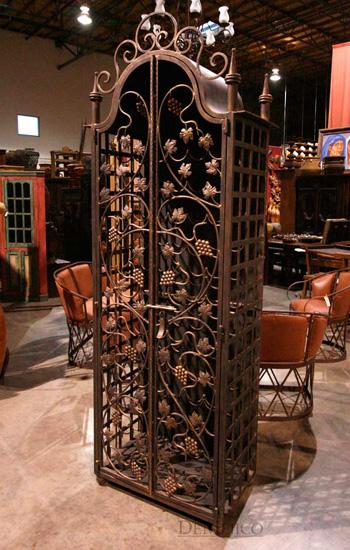 Napa Wrought Iron Wine Cabinet  Demejico